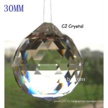 30MM ясный кристаллический шкентель шарика, шарики кристаллического шарика