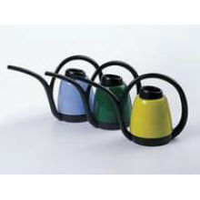 spraying powder coating for watering can