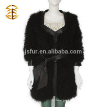 2017 Factory Wholesale Custom Lamb Women's Coat Real Fur Parka