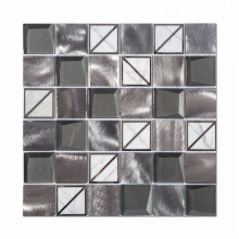 High quality metal blend stone square mosaic tile for wall