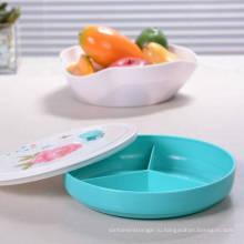 Китай стиль сетки тарелка с крышкой