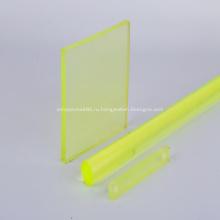 Желтый прозрачный полиуретановый лист из полиуретана