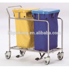 Trole de resíduos hospitalares