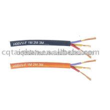 Alambre eléctrico de cobre flexible aislado PVC