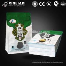 Fábrica personalizada de la calidad papel de aluminio directo alineado bolsos de empaquetado de los bolsos de té de los bolsos de té