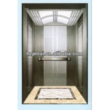 cheap price High Deluxe mirror surface etching stainless steel cabin passenger elevator