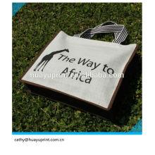 Logo personnalisé de luxe Sac en jute, sacs jute gunny, sacs en jute en gros