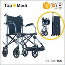 Cadeira de rodas manual leve de alumínio para viagem Topmedi