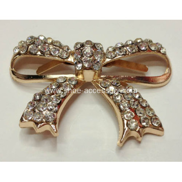 Vintage Bowknot Alloy Shoe Buckles with Rhinestone