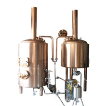 Red copper micro brewery 200l beer brewed equipment used for restaurant
