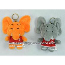 Nuevo tipo elefante lindo y precioso de la felpa llavero personalizado