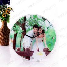 Cadre photo en verre sublimation avec horloge