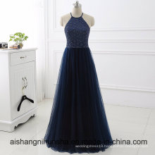 Sexy Halter Backless Long Party Dress