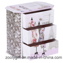 Full Color Printed Paper Storage Box with 3 Drawers