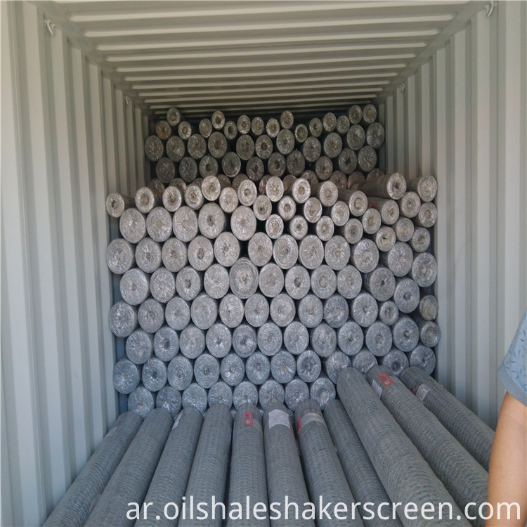 loading of hexagonal wire mesh