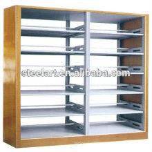 Adjustable book shelves/heavy duty metal library bookshelf