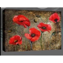 Современные висячие стены искусства акриловые картины маслом Тюльпан на холсте (FL1-045)