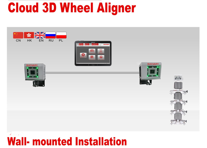 Save Space 3D Wheel Aligner Machine