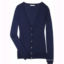 15PKCAS20 100% cashmere wool winter warm thick women cardigan sweater