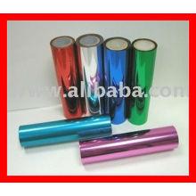 Filme de PET metalizado / filme metálico de alumínio / filme de torção colorida