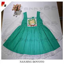 Green christmas fashion hand embroidery dresses