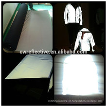 costura de alta intensidade em brilho no tecido de lã elástica reflexiva escura para vestuário