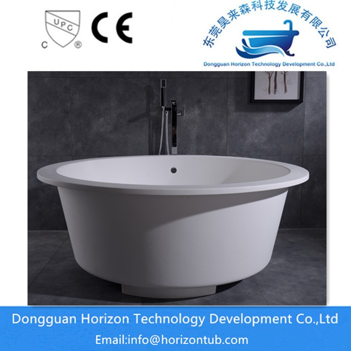 Round Solid Surface Tub