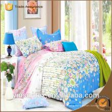 home textile 100% cotton 4pcs printed bed duvet set cotton printing duvet cover