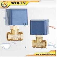 Latão Válvula de água elétrica controle de fluxo, válvula de globo de controle direcional