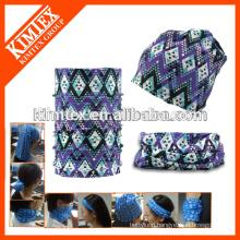 Tube custom printed cheap elastic designer headwear