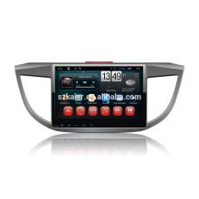 Full touch android 4.4.2 carro dvd para honda 2013 crv + oem + 1024 * 600 + link mirrior + 1080 p dvr + tpms + fábrica diretamente