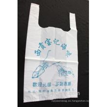 Bolsa de plástico de la camiseta para las compras y el supermercado