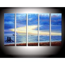 Pintura moderna del paisaje marino del arte de la lona de la alta calidad (SE-196)