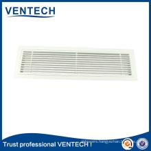 Aluminum linear grille linear bar grille for HVAC system