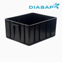 Conductive Bin Antistatic Storage Black Plastic Box for PCB Boards
