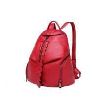 Fashion Ladie Daypack Front Leaf Zipper PU Backpack WZX1169