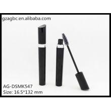 Glamorosa y vacío plástico en forma de especial Mascara tubo AG-DSMK547, empaquetado cosmético de AGPM, colores/insignia de encargo