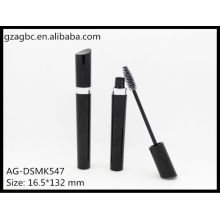 Glamourosa & vazio plástico especial-dado forma Mascara tubo AG-DSMK547, embalagens de cosméticos do AGPM, cores/logotipo personalizado