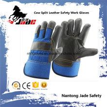 Dark Cowhide Furniture Leather Hand Safety Industrial Work Glove