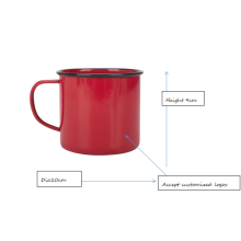 Red coffee mug and camping mug
