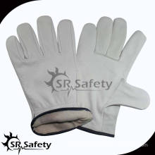 SRSAFETY cow grain leather work gloves