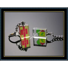 Customized Crystal Photo Keychain for Promotion (kc16)