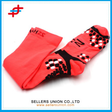 Bright Colored Advance Lightweight High Quarter Soccer Socks/Mix Knit Over-the-knee Tipped Athletic Socks For Men