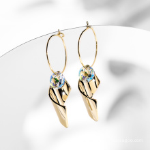 Fashion Design Real Gold Plated Earrings Crystals