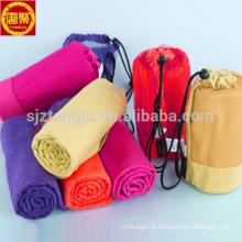 500 MOQ super macia microfibra yoga toalha com bolso com zíper 500 MOQ super suave camurça microfibra yoga mat toalhas OEM
