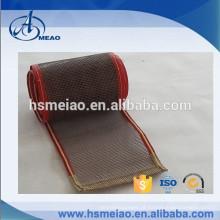 PTFE Teflon de secagem de malha correia transportadora com kevlar guider
