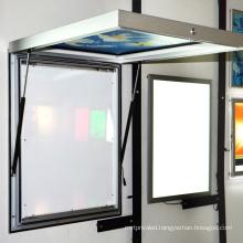 Edgelight Single Side Door Open Type Advertising Outdoor Light Box Thickness 56.9mm