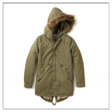 OEM cheap winter mens fishtail parka with hood