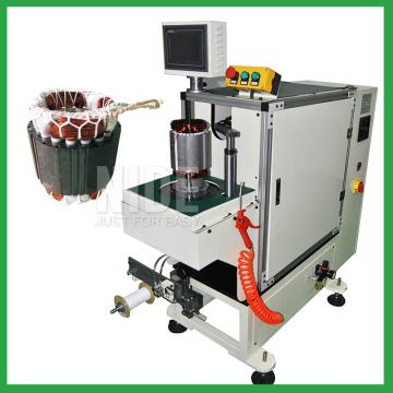 Stator automatic overhang lacing machine