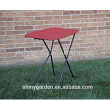 Indoor/Outdoor Plastic Adjustable Height Personal Folding Table